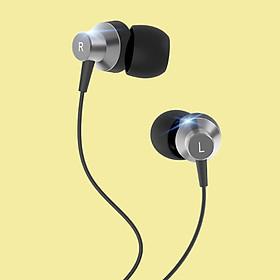 [[ Màng Loa Graphene ]] - Tai nghe nhét tai có dây Jack cắm 3.5mm Robot | Cho iOS/Apple (iPhone/iPad), Android (Samsung, Sony, Xiaomi, Huawei, Oppo) - Màu Đen - RE240 -  Hàng Chính Hãng