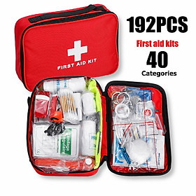 192Pcs Survival Gear First Aid Kit SOS l Bag For Home Outdoor Emergency