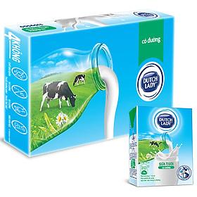 Thùng 48 Hộp Sữa Tươi Tiệt Trùng Dutch Lady Cô Gái Hà Lan Có Đường (48 x 110ml)