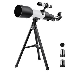 Astronomical Refracting Telescope Monocular Outdoor Travel Spotting Scope with Tripod for Kids Beginners Gift