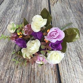 Bụi hồng điểm bóng - Hoa vải cao cấp