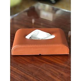 Hộp khăn giấy dùng trong ôto, để bàn bọc da sang trọng VIMOS