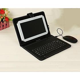 Bao Da Bàn Phím Kèm Chuột chơi game Có Dây Tengphao HD-01 sử dụng cho điện thoại, ipad, máy tính bảng... Kết nối OTG Thiết Kế Đẹp Mắt, Máy android Chất Liệu Da cao cấp, Hàng chính hãng