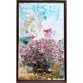 Tranh sơn dầu sáng tác vẽ tay: Sống Đời