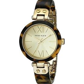 Đồng hồ nữ Đồng hồ nữ Anne Klein Women's 109652CHTO Gold-Tone Tortoise Shell Plastic Bracelet Watch