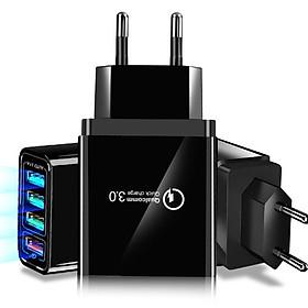 Củ sạc nhanh QC3.0 - 4 USB cho điện thoại iphone, samsung, oppo, huawei