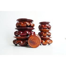Đôn gỗ tròn đế gỗ đặt tượng thờ cúng đế bông đẹp - Nhiều cỡ