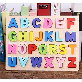 Combo Bảng gỗ chữ số nổi, đồ chơi Gỗ Giáo Dục