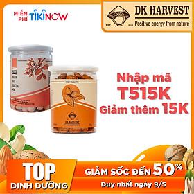 COMBO SIÊU TIẾT KIỆM - 1 Hũ Hạt Macca Dk Harvest 200g + 1 Hũ Hạt Hạnh Nhân DK Harvest 250g