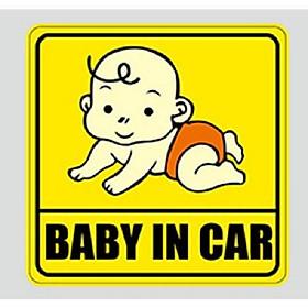 Miếng dán phản quang xe ô tô Baby In Car Bé bé yêu.