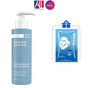 Sữa rửa mặt cân bằng da Paula's Choice resist perfectly balanced foaming cleanser TẶNG mặt nạ Sexylook(Nhập khẩu)