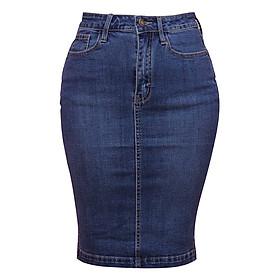 Chân Váy Jean 1 Nút Myone MS120085 - Xanh Nhạt