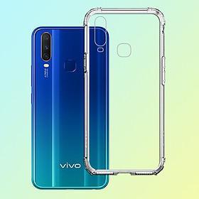 Ốp Lưng Chống Sốc cho Vivo Y15 - 04086 Dẻo Trong - Hàng Chính Hãng