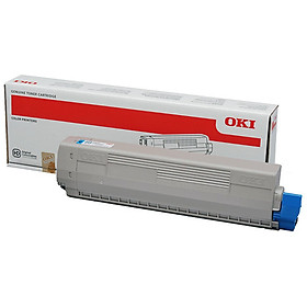 Mực xanh OKI Cyan Toner Cartridge C833 loại 10.000 trang - Hàng chính hãng