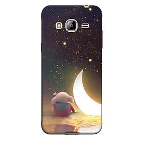 Ốp lưng nhựa cứng nhám dành cho Samsung Galaxy J3 2016 in hình Heo Ngắm Trăng