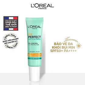 Kem chống nắng bảo vệ, kiềm dầu và thoáng mịn L'Oreal Paris UV Perfect SPF50+ PA++++ 15ml