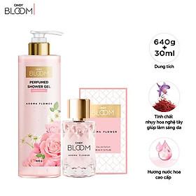 Combo Sữa Tắm Nước Hoa 640g & Nước Hoa 30ml Cindy Bloom Aroma Flower