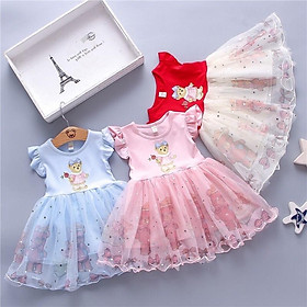 Váy công chúa gấu teddy xinh cực cho bé 6-16kg