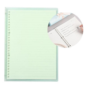 Transparent B5 Refillable Notebook 26 Rings/Holes Loose Leaf Binder Flexible Waterproof PP Cover 30 Sheets Ruled Lined