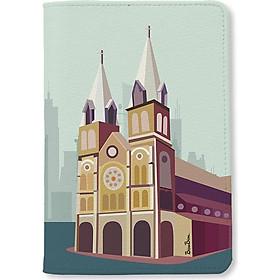Bao da hộ chiếu - Nhà Thờ Đức Bà Sài Gòn - INK-670-002-PH