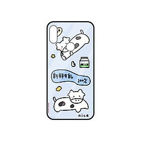 Ốp lưng Vina Case Vsmart Joy 2+/Joy 3/Active 3/Bee 3/Live/Star/.....Bò sữa dễ thương dạ quang (phát sáng trong đêm) - Hàng Chính Hãng