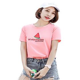 Áo thun nữ waterlemon màu hồng d614 thương hiệu T&d