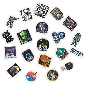 Sticker Space Astronaut Không Gian Du Hành Vũ Trụ Ngẫu Nhiên Chất Lượng Cao Chống Nước Trang Trí Nón Bảo Hiểm Vali Đàn