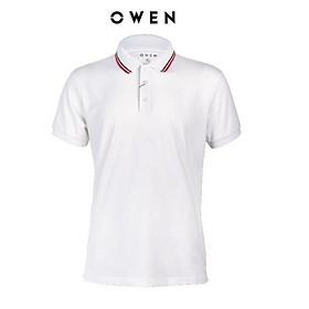 OWEN - Áo polo nam Owen màu trắng 22342 - Áo thun ngắn tay có cổ nam