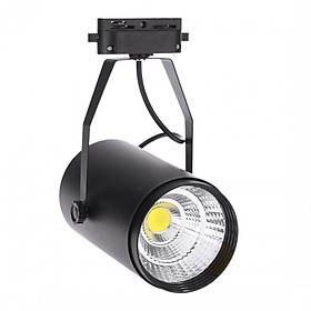 20W Ac85 - 265V 1800Lm Cob Track Track Led Spotlights Adjustable Mall Clothing Store Exhibition Hall Office Use Black