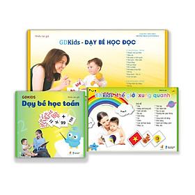Combo Bộ Thẻ Flashcard Nâng Cao Cho Bé (Bộ 300 Thẻ Tiếng Việt + Bộ 109 Thẻ Toán + Bộ 300 Thẻ TGXQ) Thẻ Chuẩn Glenn Doman Hoa Kỳ