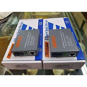 Bộ chuyển đổi quang điện 100MB hãng Netlink,1 sợi quang 25Km Single mode HTB 1100S - Hàng nhập khẩu