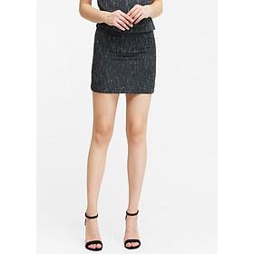 Chân Váy Ngắn Màu Xám The Cosmo Tweed Skirt (Charcoal)