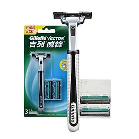 Bộ Dao + Lưỡi Dao Cạo Râu Gillette VECTOR
