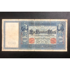 Tiền cổ châu Âu kích thước lớn 100 mark 1910 của Đức