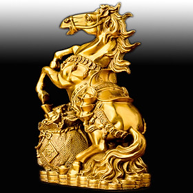 Tượng Ngựa Tài Lộc  Phong Thủy Phòng Khách  28.5cm Biểu Tượng Thành Công ,Tiền  Tài ,Công Danh Thăng Tiến TPT074 ( có đế )