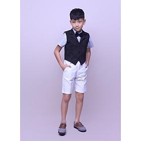 Quần yếm bé trai kaki trắng từ 1 đến 12 tuổi jadiny TQY006