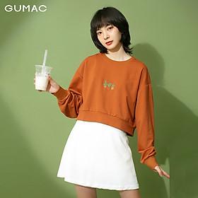 Áo thun croptop nữ tay dài GUMAC ATB313