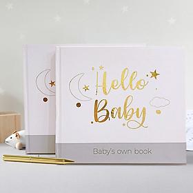 Sổ nhật ký cho bé Hello Baby Song ngữ Anh Việt- Lưu giữ những khoảnh khắc đầu đời đáng nhớ