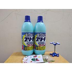 Combo 2 chai nước tẩy quần áo 600ml Rocket nội địa Nhật Bản - Tặng giá đỡ điện thoại hoặc móc dán siêu dính