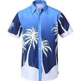 Áo Sơ Mi Ngắn Tay Đi Biển Hình Hawaii Thoáng Mát
