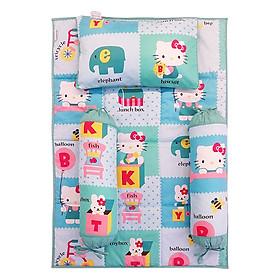 Bộ 4 Món Ga Gối Cho Bé Sleep Baby Alphabet Kitty - F75