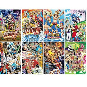 Poster ảnh One Piece Wano quốc Stamped 8 tấm A3 anime chibi tặng thẻ VCone