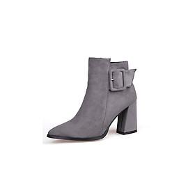 Giày Boot nữ đế vuông B093B