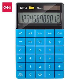Máy tính hiện đại 12 số Deli - Xanh dương/ Xanh lá/ Đỏ/ Trắng - E1589