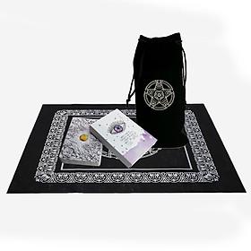 Combo Bộ Bài Tarot Bói Toán Universe Mysterious Oracle Cards Tarot-Universe has your back Cao Cấpvà Túi Nhung Đựng Tarot và Khăn Trải Bàn Tarot