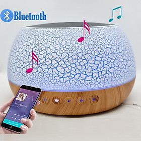 Máy Xông Tinh Dầu Có Loa Bluetooth Kết Nối Với Điện Thoại Nghe Nhạc Cực Hay, Máy Khuếch Tán Tinh Dầu Cho Phòng Lớn Thể Tích 1000ML, Có Remote Điều Khiển Từ Xa và Đèn LED Biến Đổi Màu Cực Đẹp