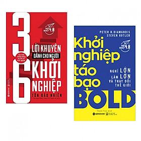 Combo sách khởi nghiệp hay : 36 lời khuyên dàn cho người khởi ngiệp + Khởi nghiệp táo bạo - Tặng kèm bookmark thiết kế