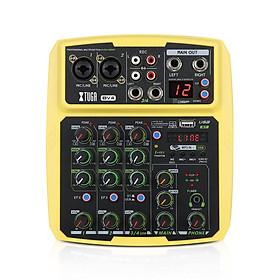 XTUGA BV 4/6 kênh MP3 với tần số ghi âm, bluetooth function, USB máy interface và hiệu ứng 16 preset DSP cho nhà âm nhạc sản xuất, sống streaming,K song cover và so on.