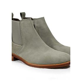 Giày Chelsea Boot Tathanium Nam Màu Xám Cát Da Lộn
