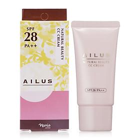 Kem nền cho da dầu Naris COSMETIC Ailus Natural Beauty CC Cream 02 Pink SPF28/PA++ (30g) – Hàng Chính Hãng